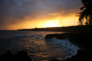Beautiful Hawaii sunset